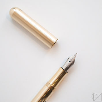 Kaweco Lilliput Brass Fine Nib Fountain Pen