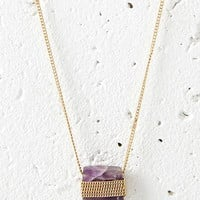 Faux Stone Longline Necklace