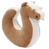U-shaped Squirrels Neck Pillow Office Travel Pillows (coffee)