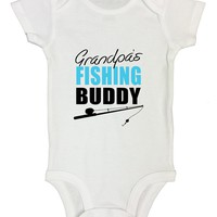 Grandpas Fishing Buddy Funny Kids Onesuit