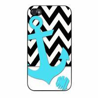 Chevron Anchor Personalized iPhone 4 Case