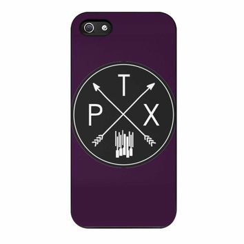 Custom Concise Stylish Fashion Circular Pentatonix Arrow Cell Phone Case for IPhone Samsung