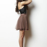 Brown Tutu Skirt - Brown Ballerina Skirt with Tiered | UsTrendy