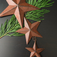 Rusty Metal Star Ornament, Wall Hanging, Rustic Western Star Mobile