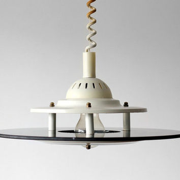Space Age Italian Pendant Light / UFO Hanging Ceiling Lampshade - Italy - 70s