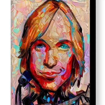 Framed Abstract Tom Petty Caricature 8.5 X 11 Art Print Limited Edition w/signed COA