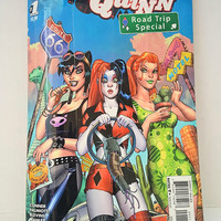 Cool Unique Blue Clutch Handbag, Upcycled Harley Quinn Poison Ivy Catwoman Comic Book Purse