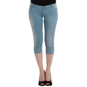 Ermanno Scervino Blue Capri Pants Cropped Jeans