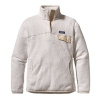 Patagonia Women's Re-Tool Snap-T® Fleece Pullover | Raw Linen - White X-Dye