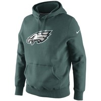 Nike Philadelphia Eagles Classic Logo Pullover Hoodie Sweatshirt - Midnight Green