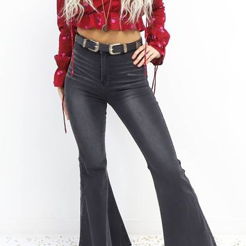 Special Kind Black Distressed Bell Bottom Jeans