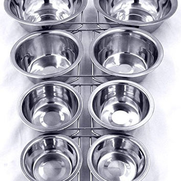 Dog Stainless Bowl Dinner Dog Food Water Bowl Elevated Stand Double Pet Dog Bowl for Small Large Size Stainless Steel Cat Bowl