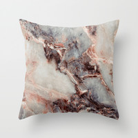 Marble Texture 85 Throw Pillow by Robin Curtiss