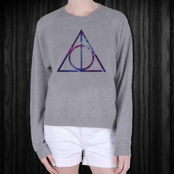 Galaxy Deathly Hallows screenprint sweatshirt, sweater, made from mix polyester cotton, available size S - 3XL