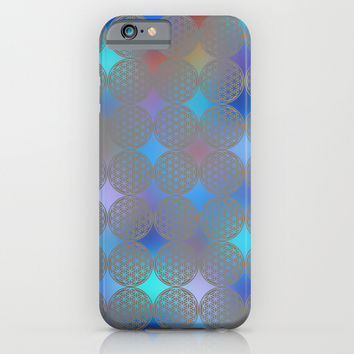 The Flower of Life (Sacred Geometry) pattern 2 iPhone & iPod Case by Klara Acel