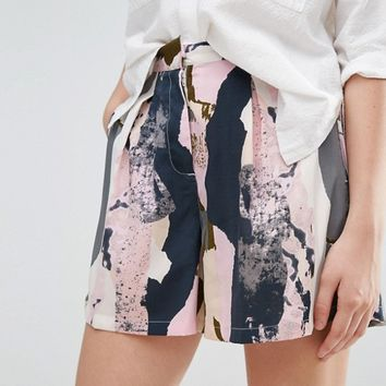 Native Youth Graphic Coastal Print Short at asos.com