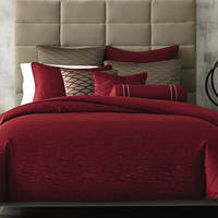 Hotel Collection Woven Texture Red Duvet Covers, Only at Macy's | macys.com