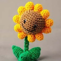 Plants versus Zombies: Sunflower CROCHET DOLL | deadcraft - Dolls & Miniatures on ArtFire