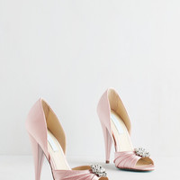 Betsey Johnson Fancy and You Know It Heel in Blush | Mod Retro Vintage Heels | ModCloth.com