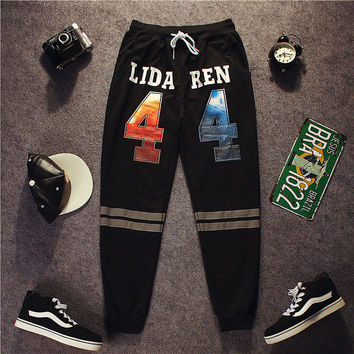 Autumn Alphabet Sports Hip-hop Pants [9302651655]