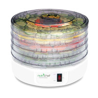 Nutrichef PKFD12 White Food Dehydrator Electric Countertop