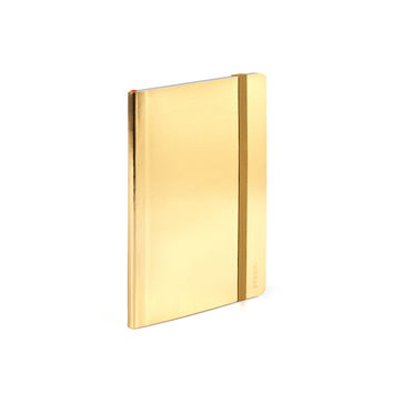 Metallic Gold Small Soft Cover Notebook   Notebooks & Journals   Poppin