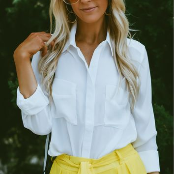 Button Up Blouse Ivory