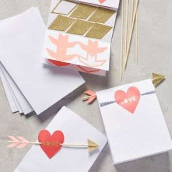 Valentine's Favor Bags by Anthropologie in Red Size: Set Of 6 Gifts