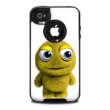 The Yellow Fuzzy Wuzzy Creature Skin for the iPhone 4-4s OtterBox Commuter Case