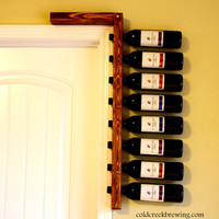Reclaimed Wood Wine Rack - Wine Rack - Wine Bottle Holder