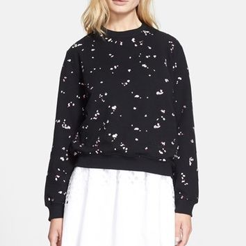 Women's Carven Petal Embroidered Molleton Sweatshirt