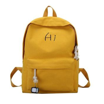 Student Backpack Children Miyahouse Lovely Candy Color Women Backpacks Korean High School Student Backpack Canvas Portable Travel Rucksack For Female AT_49_3