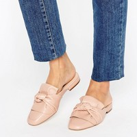 London Rebel Bow Mule Shoe at asos.com