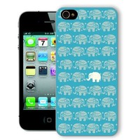 ChiChiC Iphone Case, i phone 4 4g 4s case,Iphone4 iphone4g iphone4s covers, plastic cases back cover skin protector,gold blue elephant