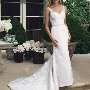 Casabanca Bridal 2204 Lace Fit and Flare Wedding Dress