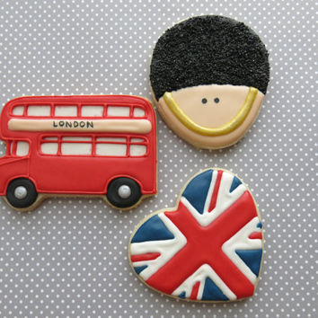 London Themed Sugar Cookies - 1 Dozen