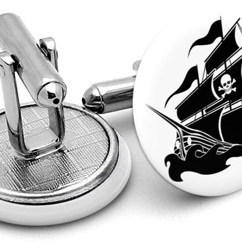 Pirate Ship Cufflinks