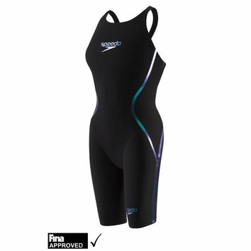 Speedo LZR Racer X Open Back Kneeskin Technical Swimsuit - Women's - Backed by a 100% Satisfaction Guarantee | TriVillage.com