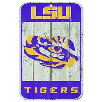 """Licensed Lsu Tigers Official NCAA 11"""" x 17"""" Fence Plastic Wall Sign 11x17 by Wincraft KO_19_1"""