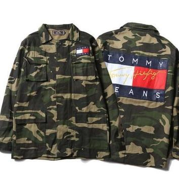 OFF WHITE Camouflage Jacket Men Kanye West Military ma1 Medal Jackets Men Bomber veste homme Canvas Outwear chaqueta hombre
