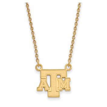 NCAA 14k Yellow Gold Texas A&M U Small Pendant Necklace