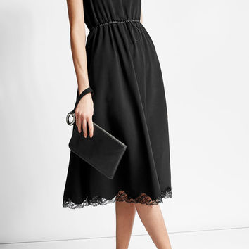 Crepe Dress with Lace Detail - Alexander Wang | WOMEN | US STYLEBOP.COM