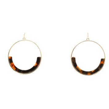 Drop Tortoise Hoop Earrings