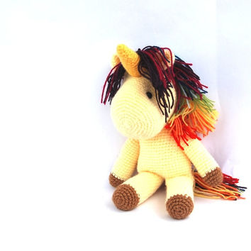 unicorn, stuffed pony, crochet horse, amigurumi unicorn, my little pony doll, rainbow pony, crochet unicorn stuffed unicorn pegasus soft toy