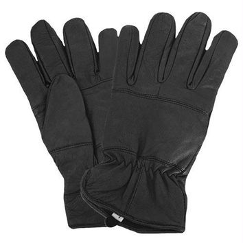 Insulated All Leather Police Gloves
