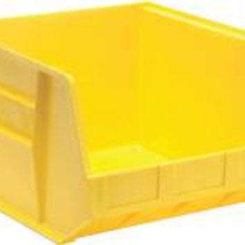 Quantum Storage Systems Stack And Hang Bin, 18 X 16-1/2 In. X 11 In., Yellow