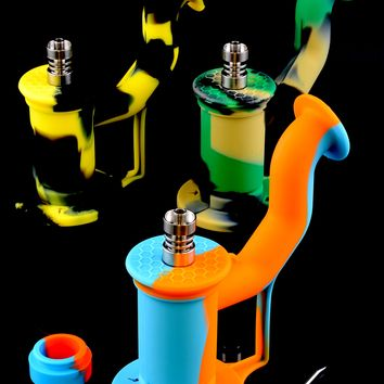 Silicone Dab Rig with Titanium Nail - WP1346