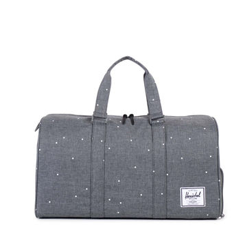 HERSCHEL SUPPLY CO NOVEL DUFFLE SCATTERED CHARCOAL