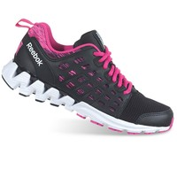 Reebok Zigkick Racer Girls' Running Shoes (Black Charged Pink)