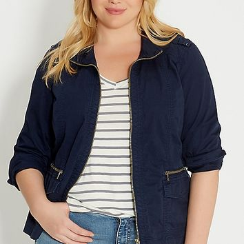 plus size cropped jacket | maurices